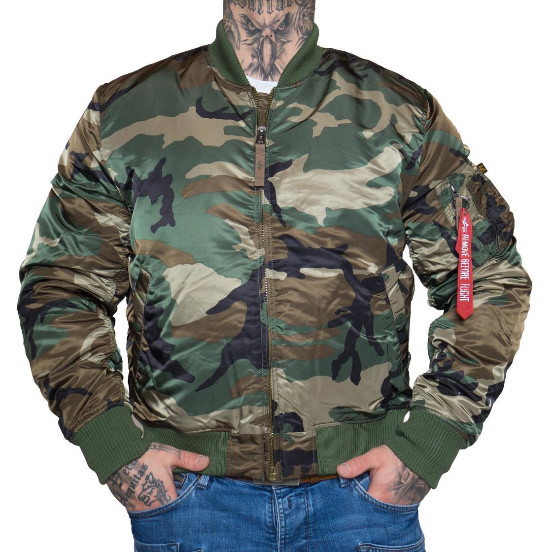 alpha industries herren jacke ma 1 vf 59 camouflage